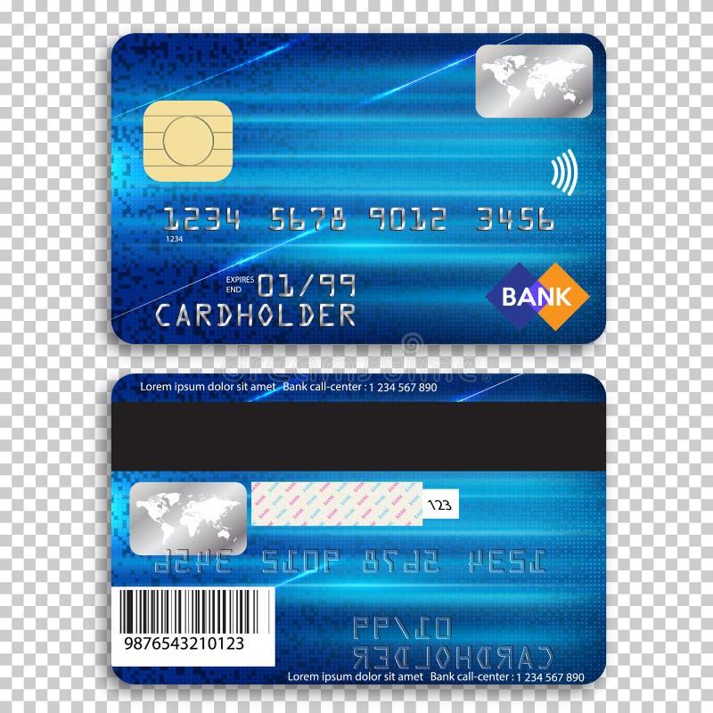 Realistische ausf?hrliche Kreditkarte lizenzfreie abbildung