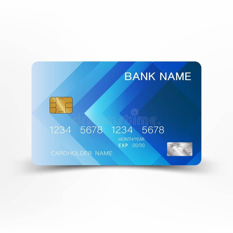 Realistische ausf?hrliche Kreditkarten stock abbildung