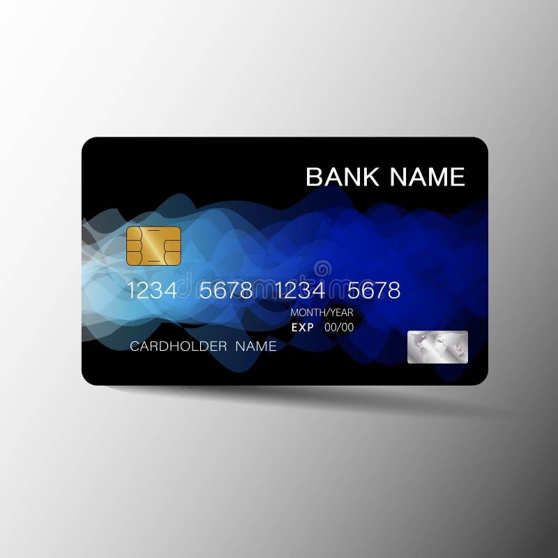 Realistische ausf?hrliche Kreditkarten vektor abbildung
