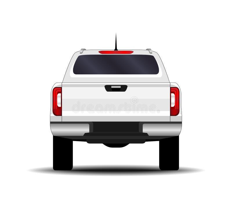 Realistische auto vrachtwagen, bestelwagen stock illustratie