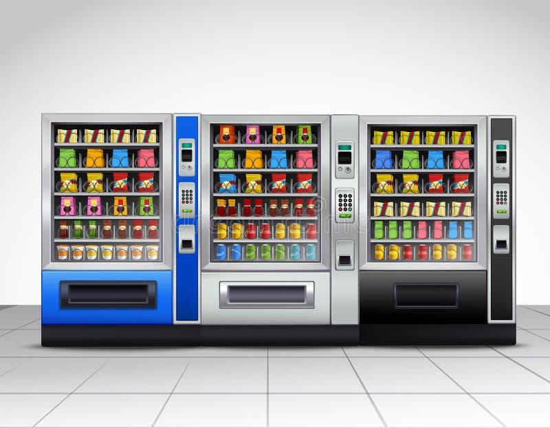 Realistische Automaten Front View royalty-vrije illustratie