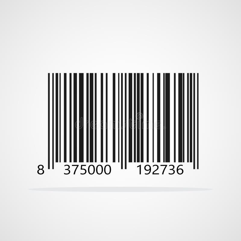 Realistische Barcodeikone Auch im corel abgehobenen Betrag stock abbildung