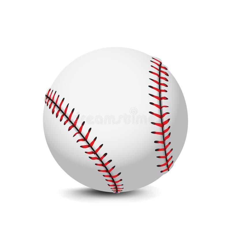 Realistische Baseball-Ball-Vektor-Ikonen-Illustration vektor abbildung