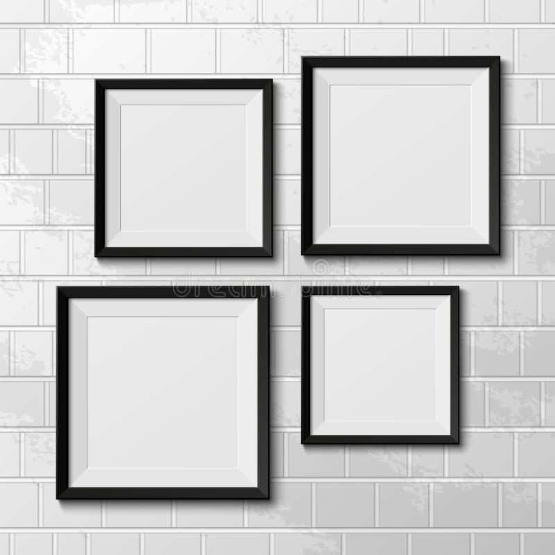 Realistische Bilderrahmen. vektor abbildung