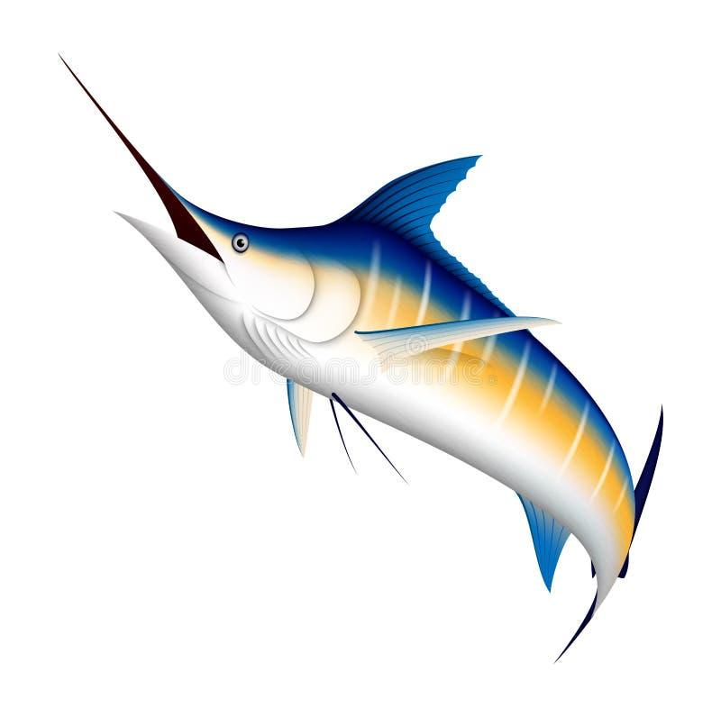 Realistische blauwe Marlijnvissen royalty-vrije illustratie