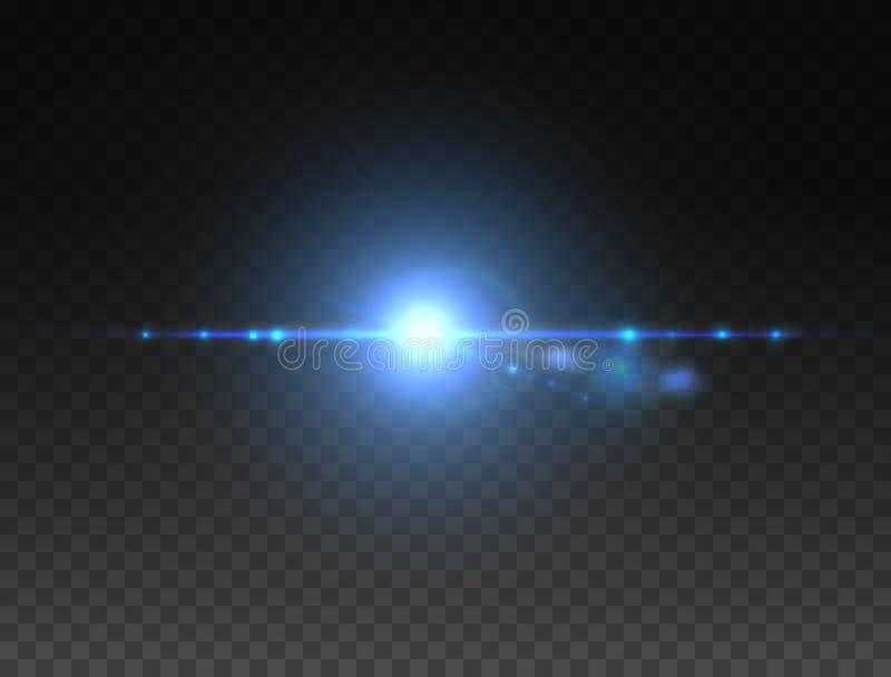 Realistische Blendenflecksternlichter und Glühenfarbelemente vektor abbildung