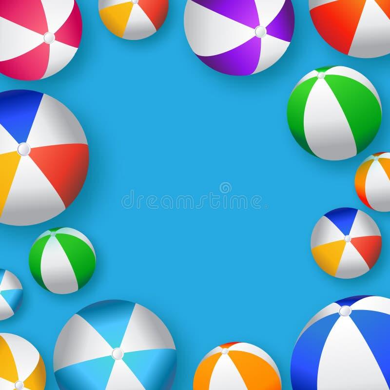 Realistische bunte Wasserbälle - Gummi oder Plastik stock abbildung