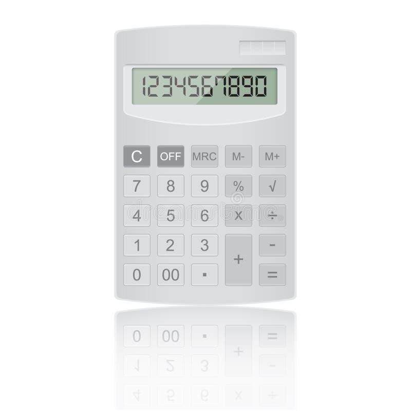 Realistische calculatorvector vector illustratie