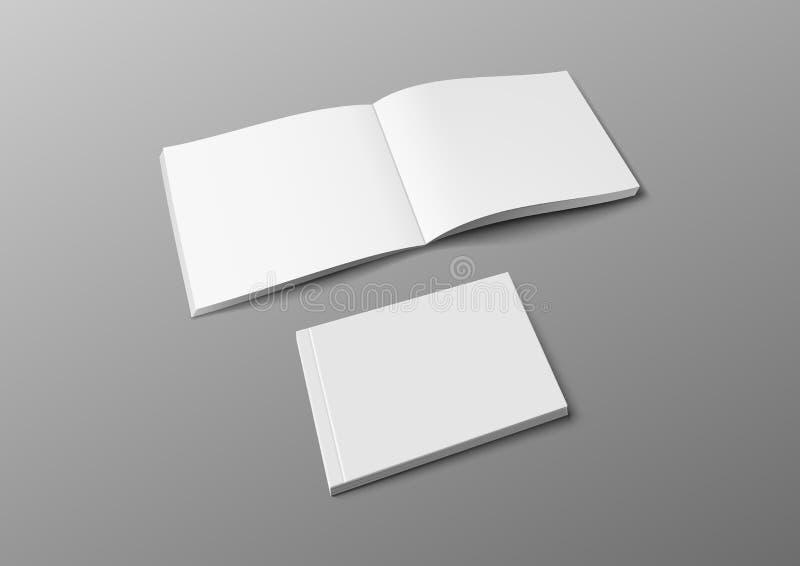 Realistische 3D-dekking - Brochure, Book- of Catalog Mocup vector illustratie