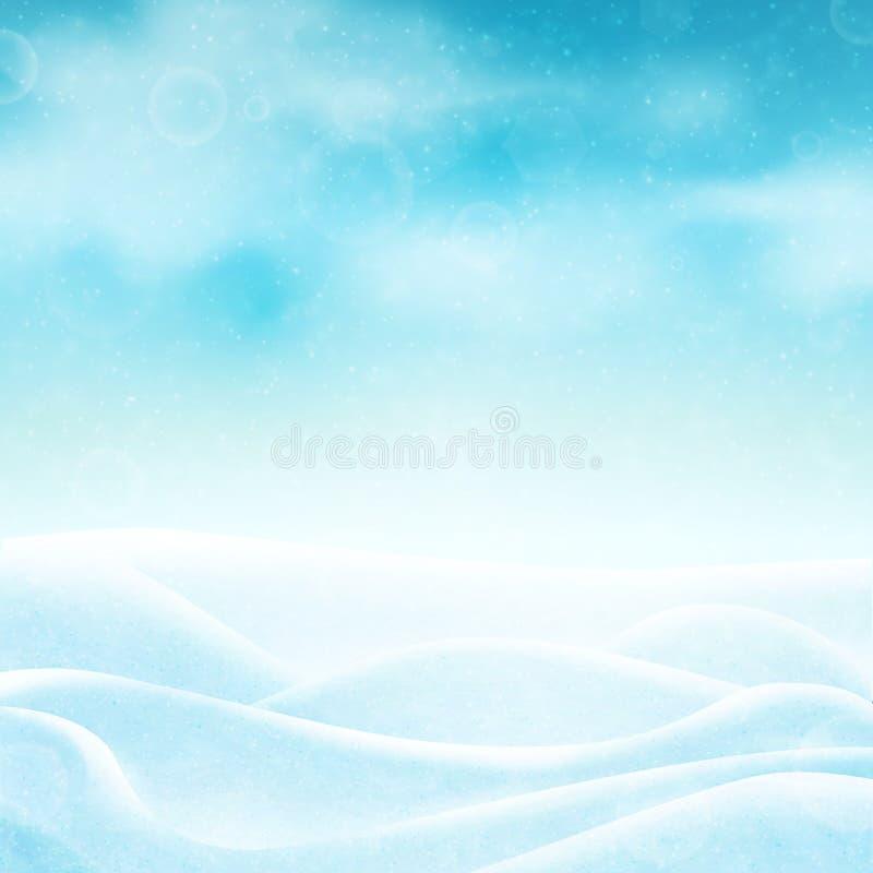 Realistische de winterachtergrond stock illustratie