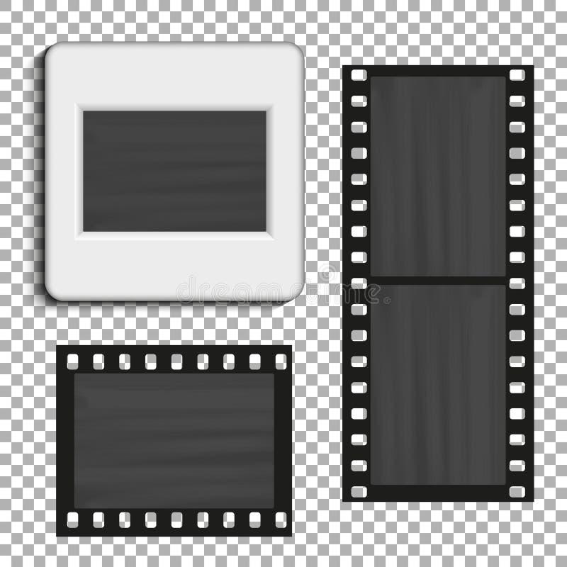 Realistische dia Retro ontwerp voor fotopresentatie vector illustratie