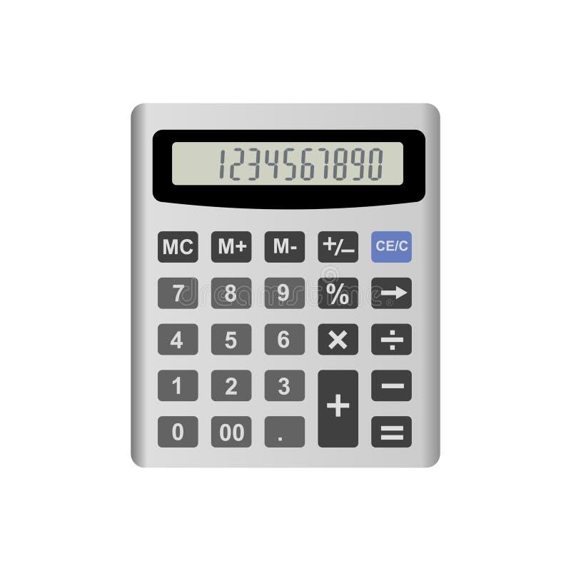 Realistische die calculator op witte achtergrond wordt geïsoleerd Vector illustratie eps10 vector illustratie