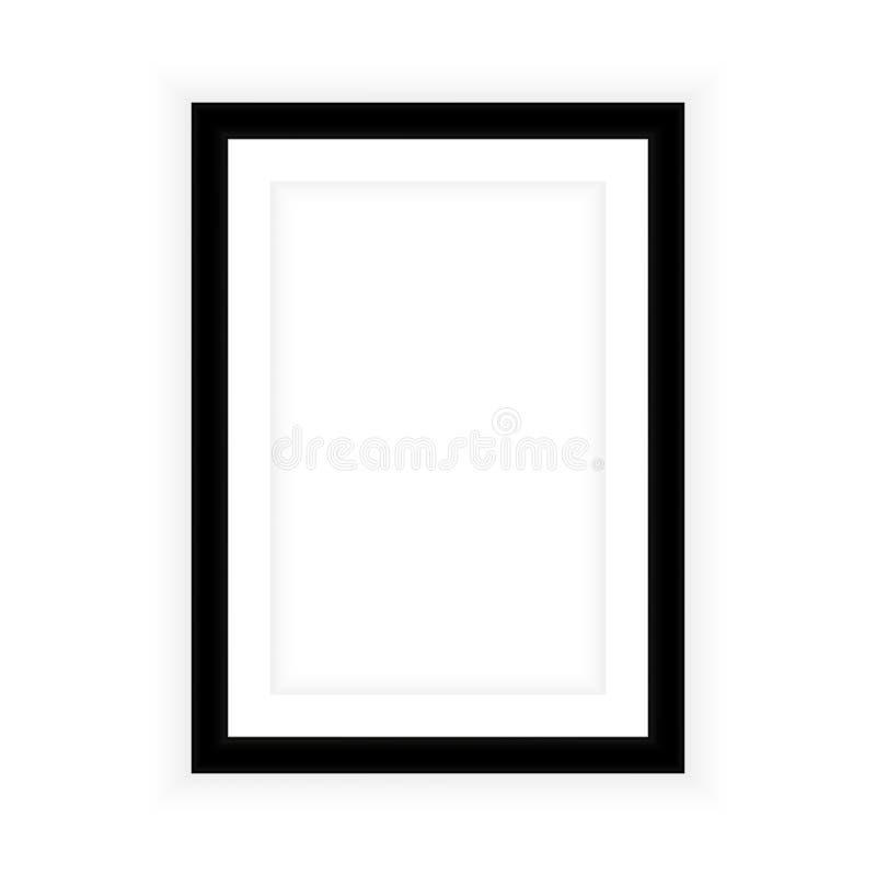 Realistische die omlijsting op witte achtergrond wordt geïsoleerd Perfectioneer voor uw presentaties Vector illustratie Eps 10 royalty-vrije illustratie