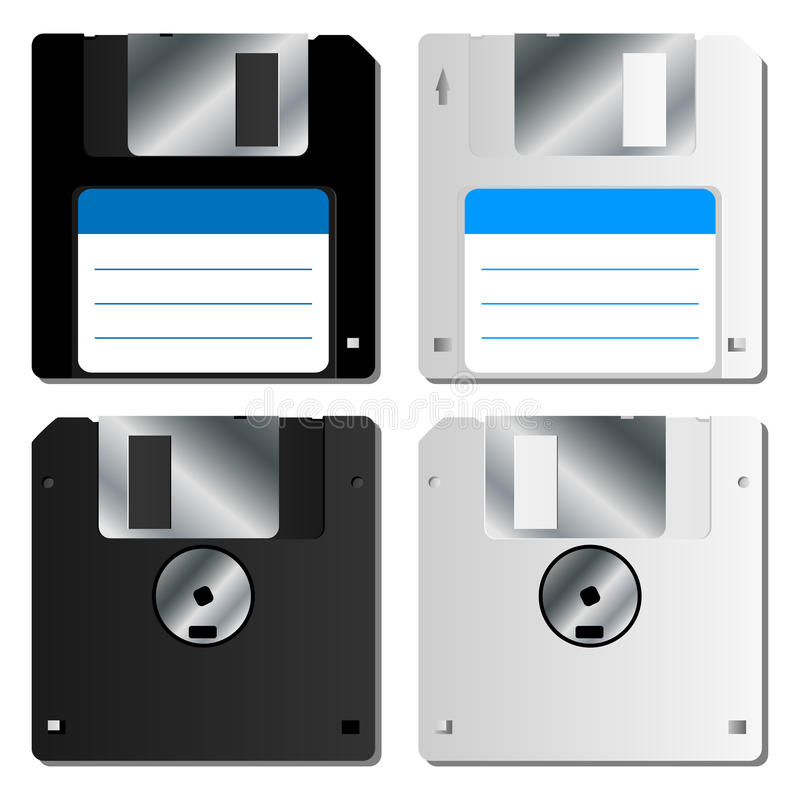 Realistische diskette stock illustratie