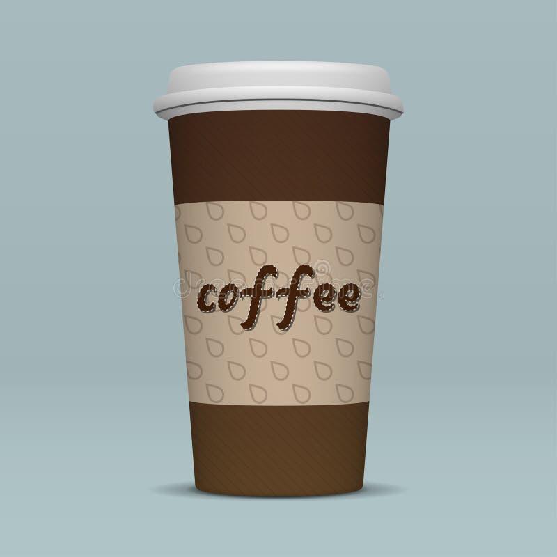 Realistische document koffiekop vector illustratie