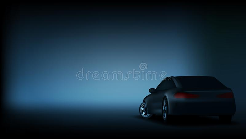 Realistische elegante Luxusauto-Fahnen-Schablone stock abbildung