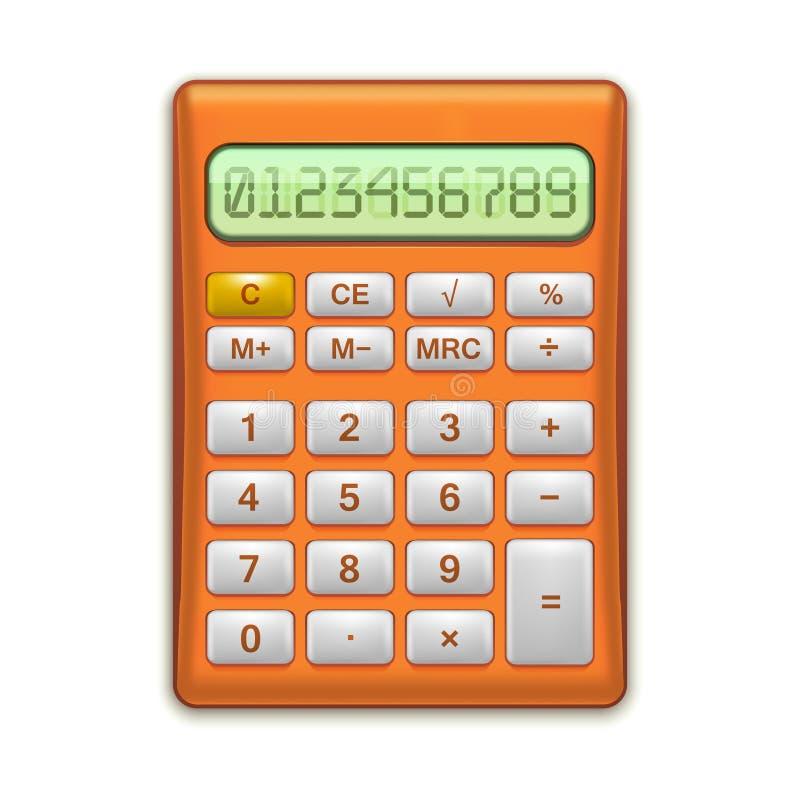 Realistische Elektronische Rode Calculator Vector vector illustratie