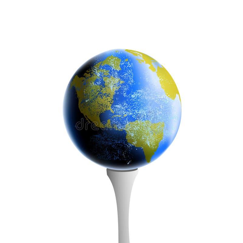 Realistische Erde auf Golft-stück lizenzfreie abbildung