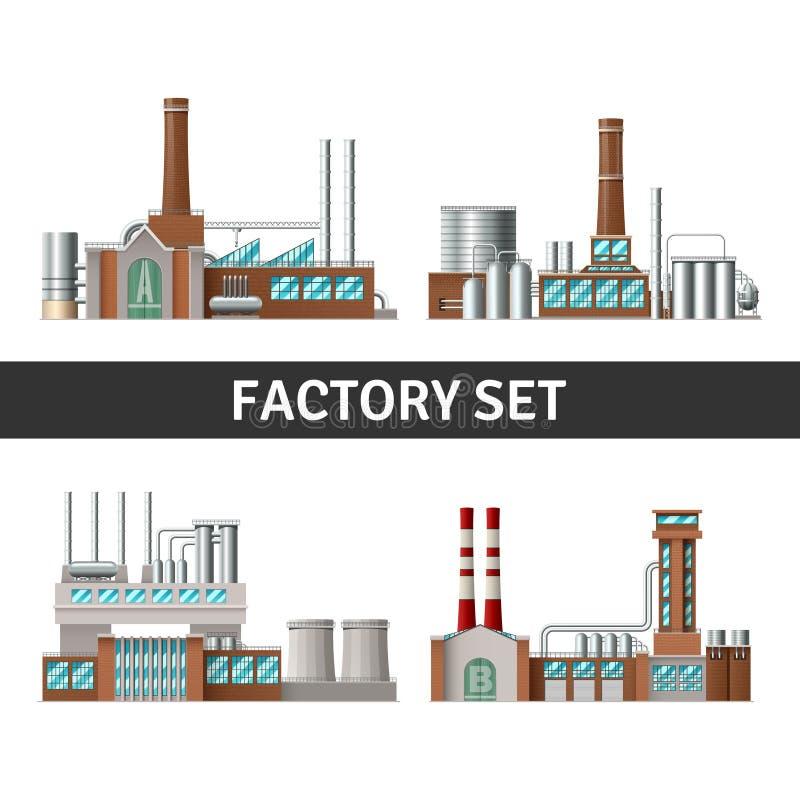 Realistische Fabrieksreeks stock illustratie