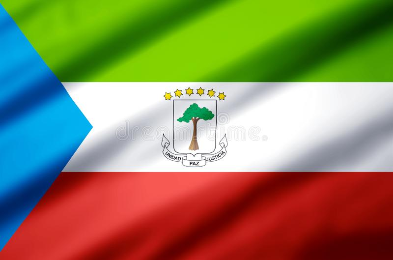Realistische Flaggenillustration der Äquatorialguinea lizenzfreie abbildung