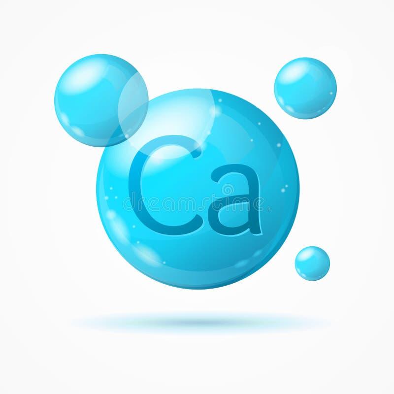 Realistische Gedetailleerde 3d Calciumkaart Als achtergrond Vector stock illustratie