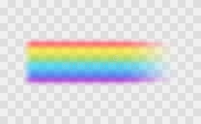 Realistische Gedetailleerde 3d Regenboog op een Transparante Achtergrond Vector vector illustratie