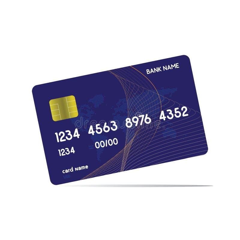 Realistische gedetailleerde die creditcards met kleurrijke abstracte ontwerpachtergrond worden geplaatst Vector illustratie Witte vector illustratie