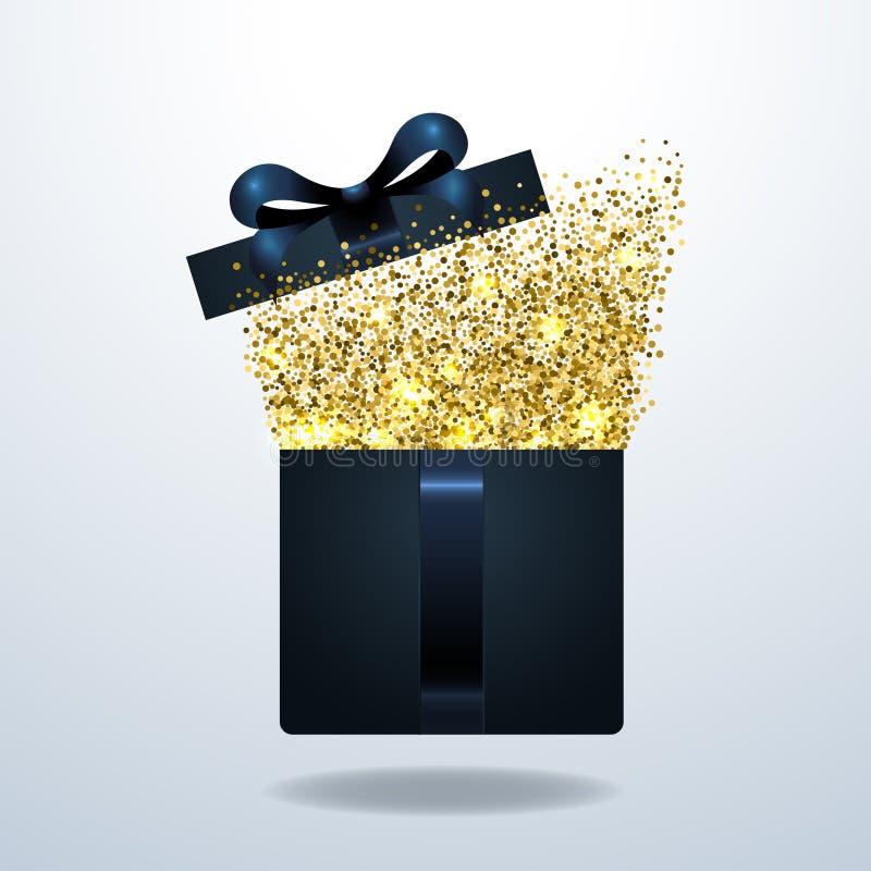 Realistische Geschenkbox Vektorillustration lizenzfreie abbildung