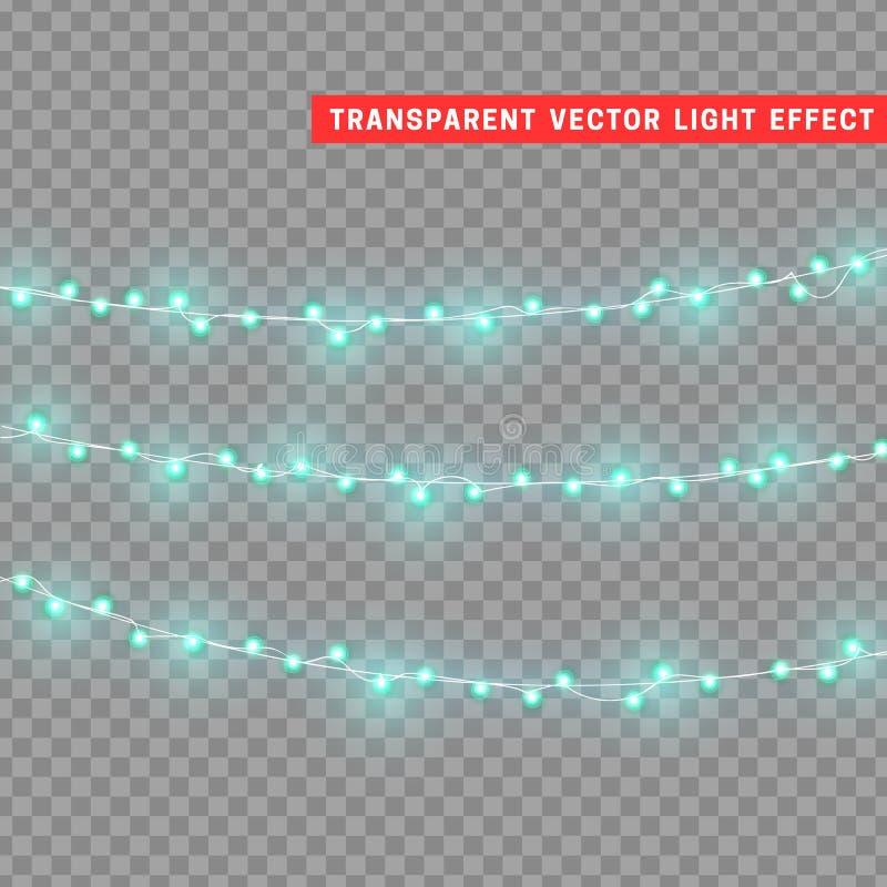 Realistische Gestaltungselemente der Weihnachtslichter vektor abbildung