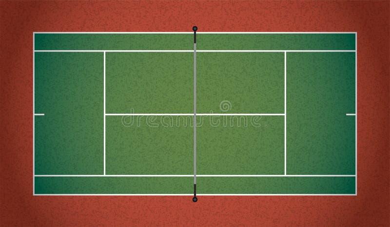 Realistische Geweven Tennisbaanillustratie royalty-vrije illustratie