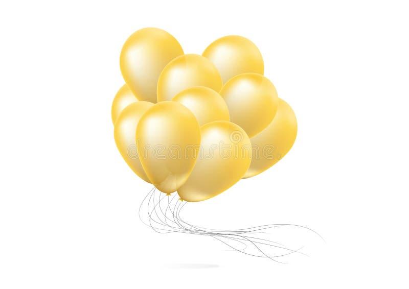 Realistische glatte Ballone stockbild