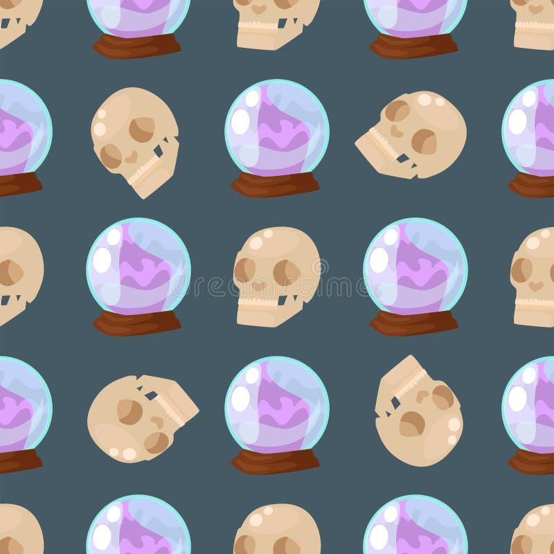 Realistische glatte Vektorillustration der leeren des Ballbereichs der Kugel magischen hellen nahtlosen Glasblase des Musters glä stock abbildung
