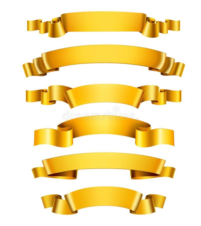 Realistische goldene Bänder lizenzfreie abbildung