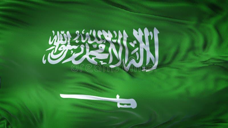 Realistische Golvende de Vlagachtergrond van SAUDI-ARABIË royalty-vrije illustratie