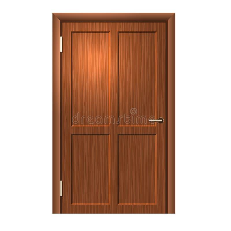Realistische hölzerne Tür. Vektor vektor abbildung