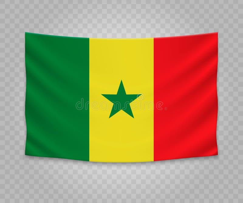 Realistische hangende vlag royalty-vrije illustratie