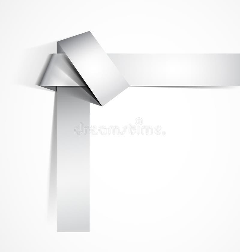 De knoop van de origami stock illustratie