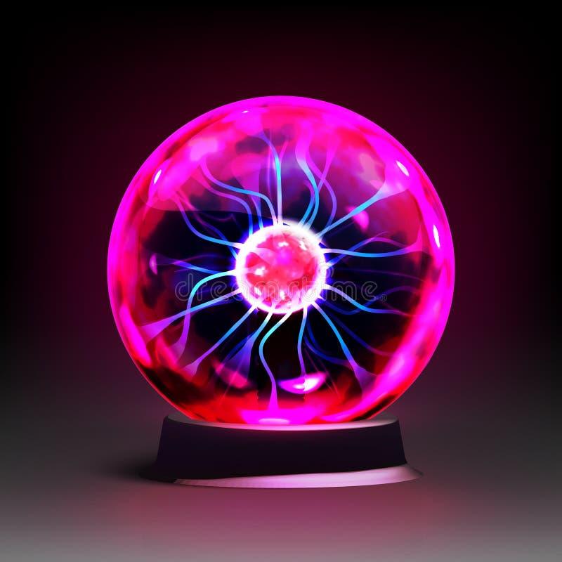 Realistische het plasmabol van de voorraad vectorillustratie, elektrisch gebied, Magische Bal Eps 10 vector illustratie