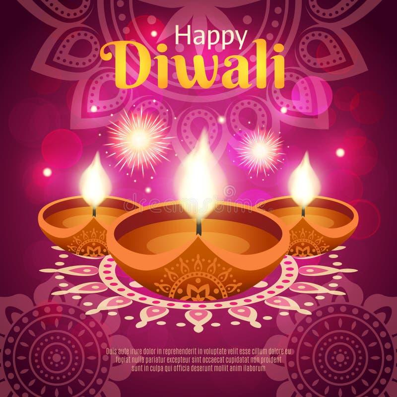 Realistische Illustration Diwali