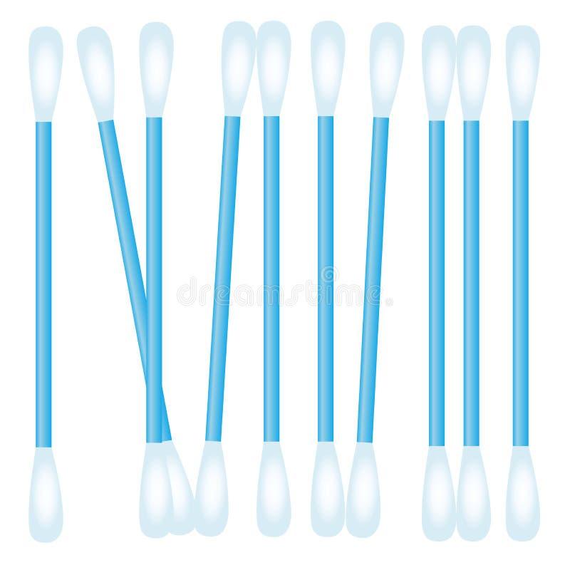 Realistische katoenen zwabber vector illustratie