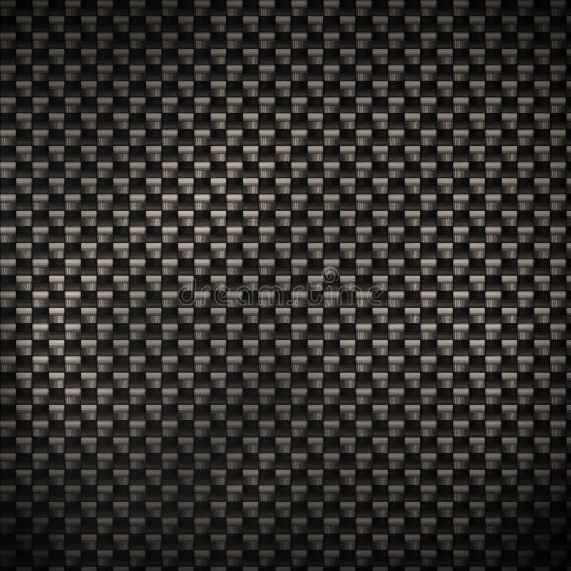 Realistische Kohlenstoff-Faser stock abbildung