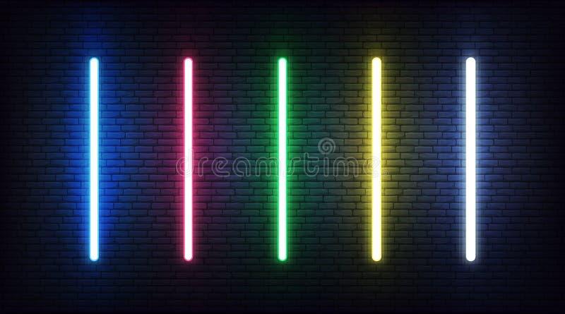 Realistische laser voor Jedi Knachten Futuristisch wapen van de lichtsabeljauw stock illustratie