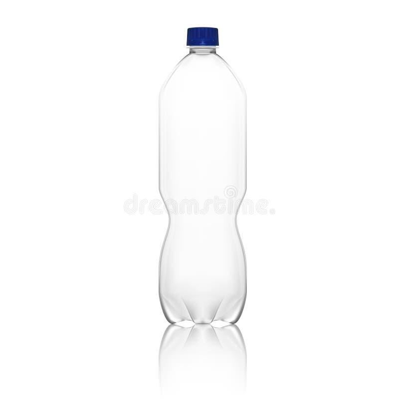 Realistische leere saubere Plastikflaschen-Schablone stock abbildung