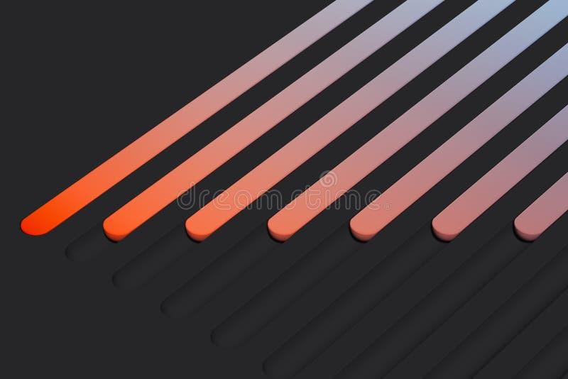 Realistische multicolored wisselknoppen op donkere achtergrond het 3d teruggeven vector illustratie