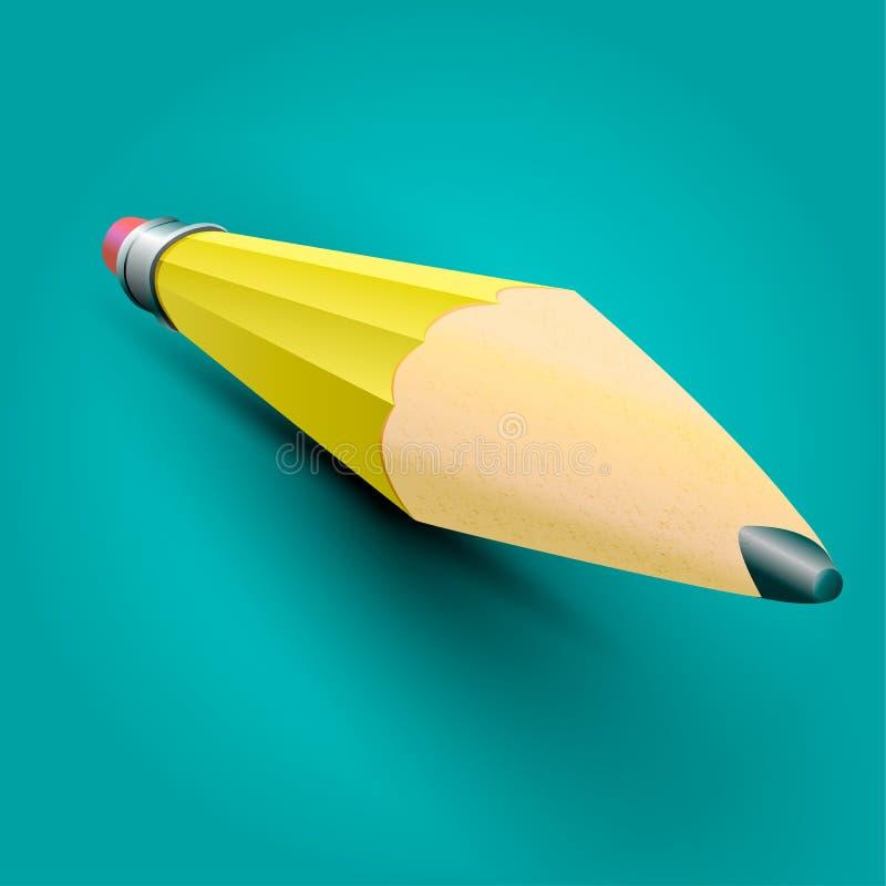 Realistische pensil royalty-vrije stock afbeelding