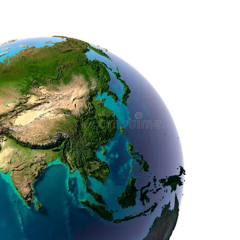 Realistische Planeten-Erde stock abbildung
