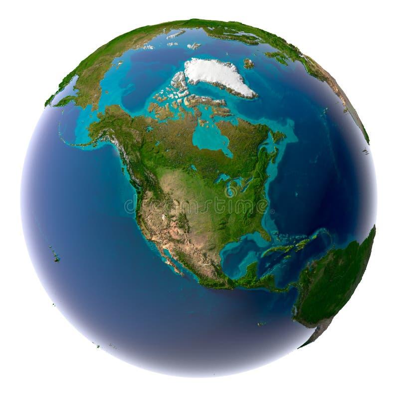 Realistische Planeten-Erde mit natürlichem stock abbildung