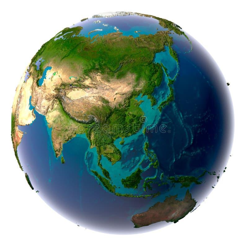Realistische Planeten-Erde mit natürlichem vektor abbildung