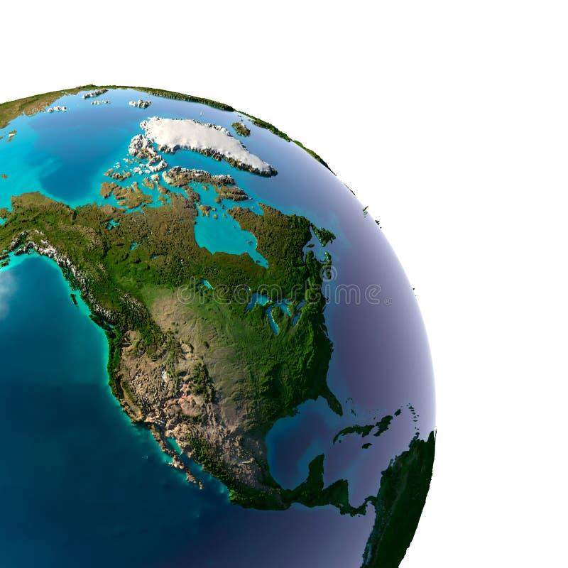 Realistische Planeten-Erde mit natürlichem lizenzfreie abbildung