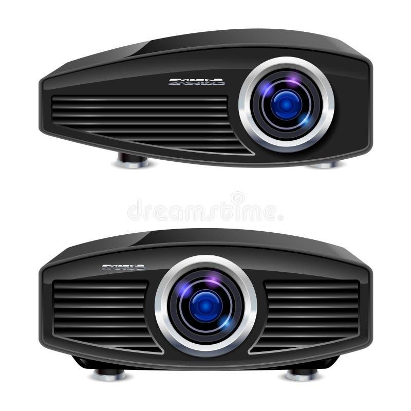 Realistische projector van verschillende media vector illustratie